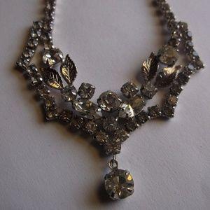 Vintage Rhinestone Drop Necklace